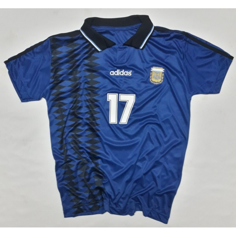 b0f261a9c 1994 USA World Cup Argentina Away Jersey Ariel Ortega Size S
